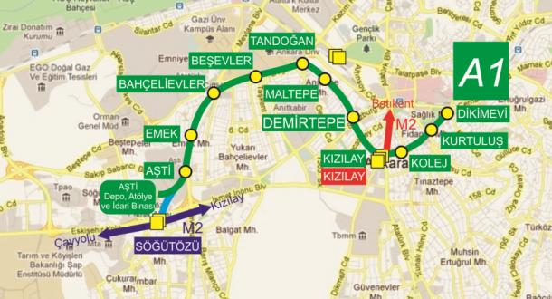 Ankaray Metrosu - 18 Nisan 2016 21:49