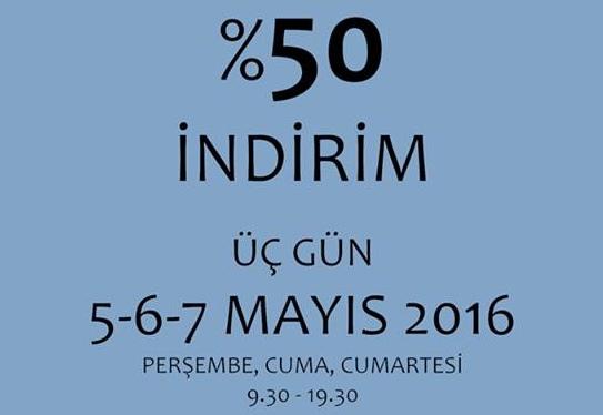 İlhanilhan Kitabevi'nde %50 İndirim - Mayıs 2016 11:25