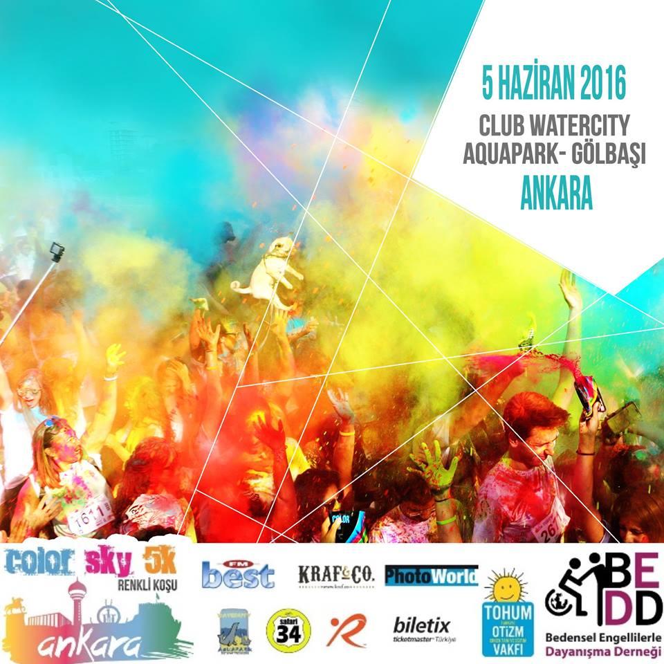 x Renkli Koşu Ankara Color Sky 5K
