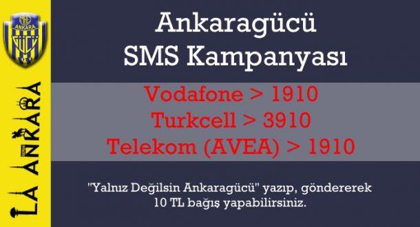 Ankaragücü'nden SMS Yardımı Kampanyası - 17 Mayıs 2017 13:29
